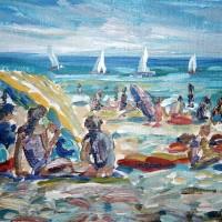 Beach Scene in Acrylics
