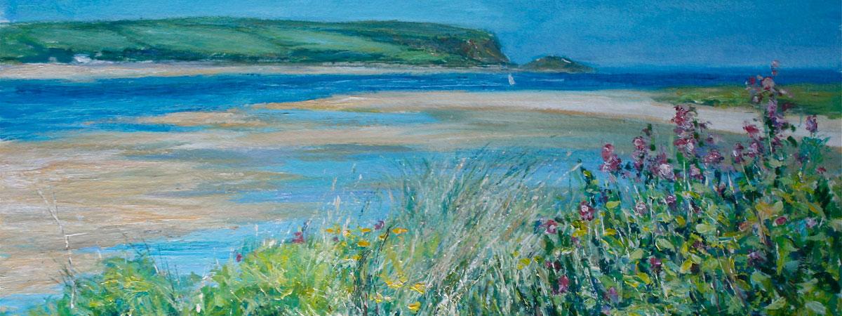 Slide 1 Coastal view painting