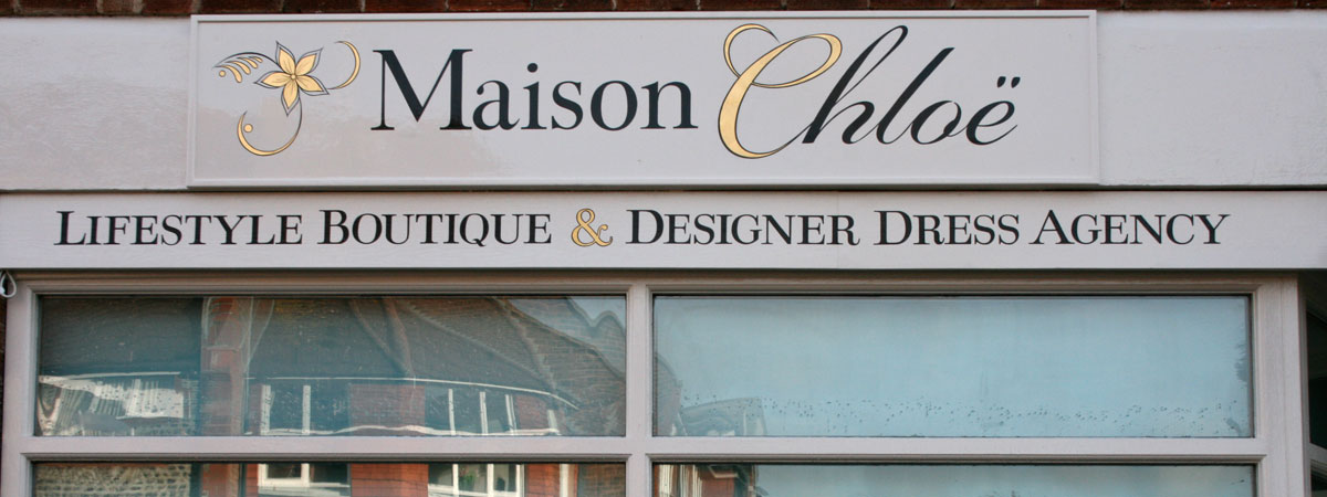 Shop sign skilfully handwritten by Mark Weston