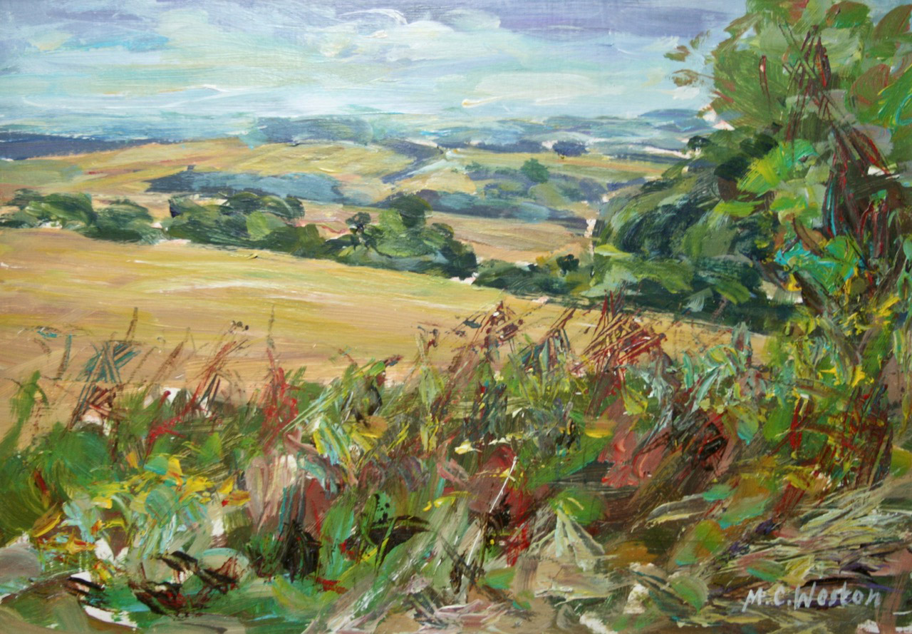 Kithurst Hill 1 acrylic painting by Mark Weston, Artist