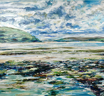 Bray Hill, North Cornwall acrylic painting by Mark Weston, Artist