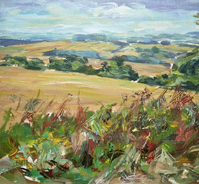 Kithurst Hill 1 acrylic painting by Mark Weston, Artist