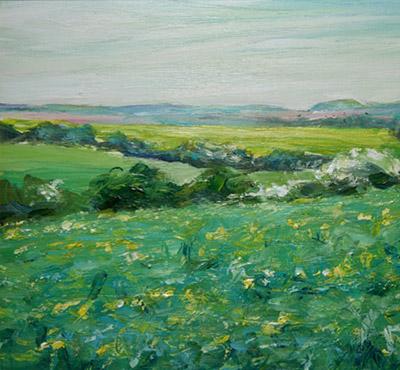 Kithurst Hill 2 acrylic painting by Mark Weston, Artist