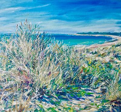 West Beach, Littlehampton acrylic painting by Mark Weston, Artist