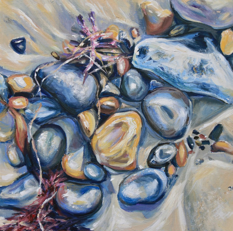 Pebbles 2 painting by Mark Weston, Artist