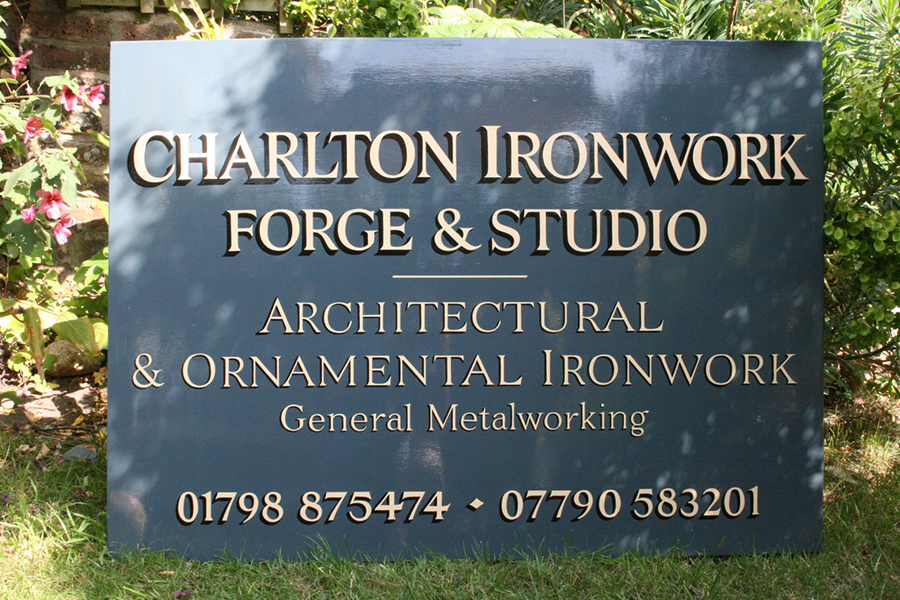 Charlton Ironwork Forge and Studio sign